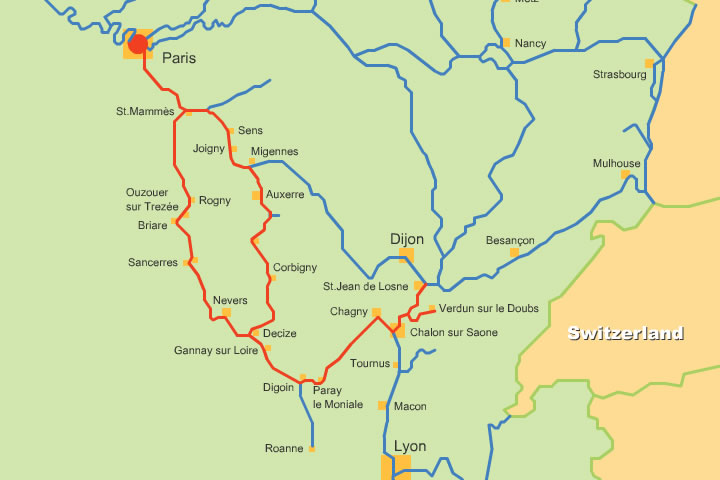 Map Of France Rivers.French Canals And Rivers Maps