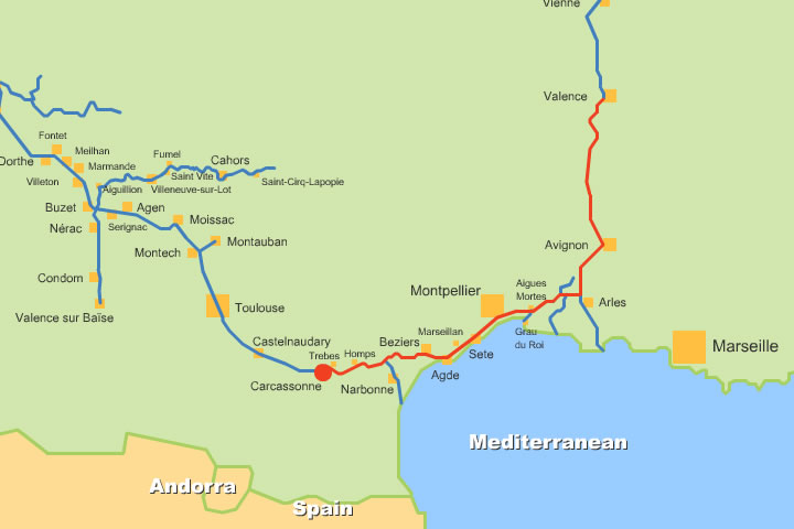 Map Of England Rivers And Canals.French Canals And Rivers Maps