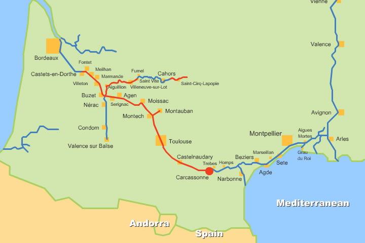 French Canals And Rivers Maps