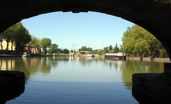 Last bridge on the Canal du Midi in Toulouse