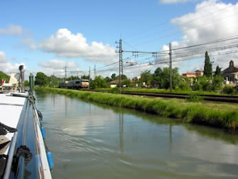 Railway follows close to this canal