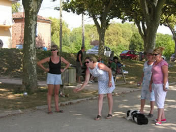 Our boules game lasted the afternoon