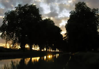 Sunset on the Canal de Garonne