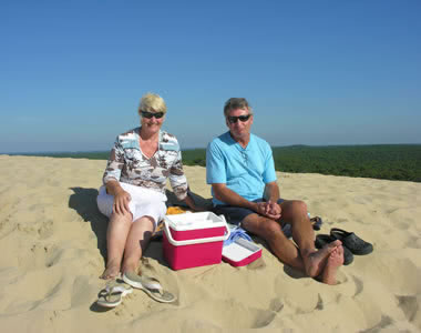 Picnic on the top of La Dune du Pilat